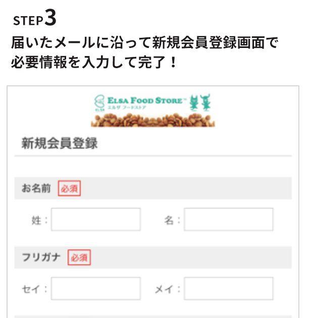 STEP3 必要事項を入力して登録!